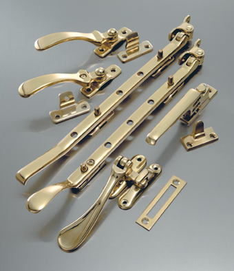 how to clean brass window fittings