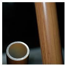 Wood finish handle