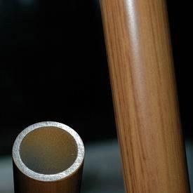 Wood finish entrance handle