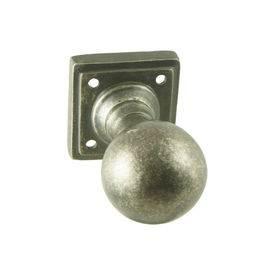 Ball knob on square rose diameter 50mm