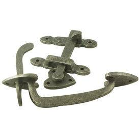 Antique gate latch in bronze or pewter