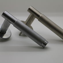 satin chrome/satin nickel knurled grip